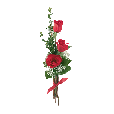 Bouquet di Tre Rose Rosse