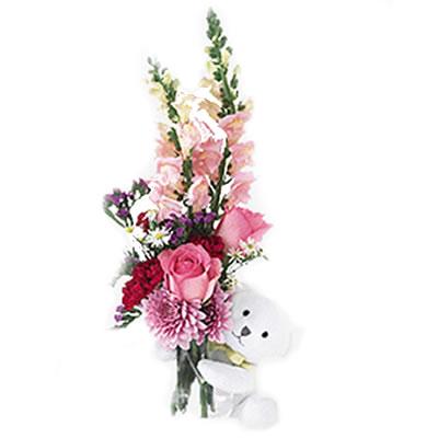 Ordina 06 Fiori e Rose con Orsetto online e invia a domicilio