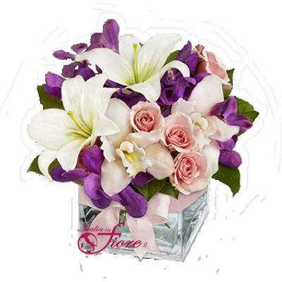 Italia in fiore comprare e inviare composizioni di fiori for Lilium in vaso