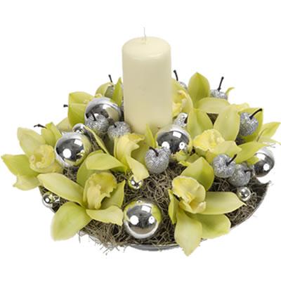 Ordina 00 Composizione Natalizia Con Orchidee online e invia a domicilio