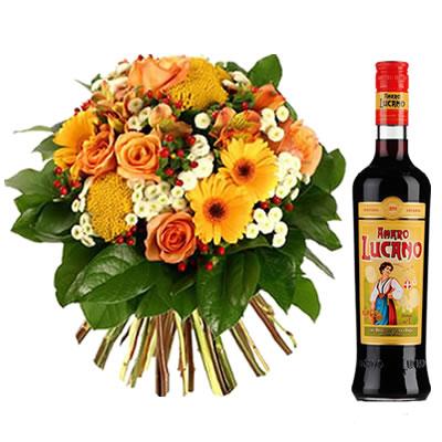 Ordina 02 Bouquet Elegante con Amaro Lucano online e invia a domicilio