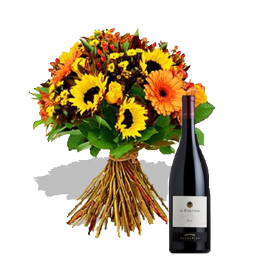 Bouquet Estate con Vino Rosso