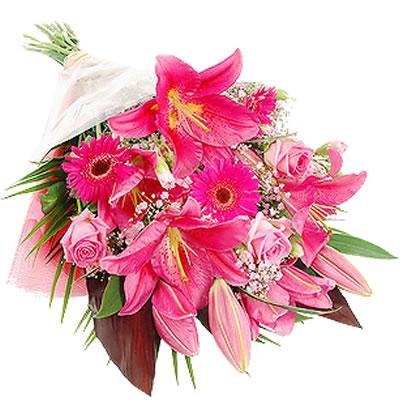 Ordina 09 Bouquet Rosa online e invia a domicilio