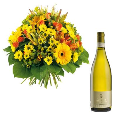 Ordina 03 Fiori Misti Con Vino Bianco online e invia a domicilio