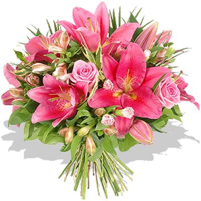 Ordina 10 Bouquet Di Rose e Lilium online e invia a domicilio