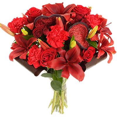 Ordina 02 Rose e Lilium Rossi online e invia a domicilio