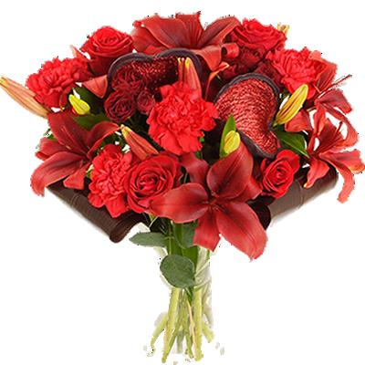 Lilium e Rose Rosse