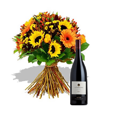 02 Bouquet Estate con Vino Rosso