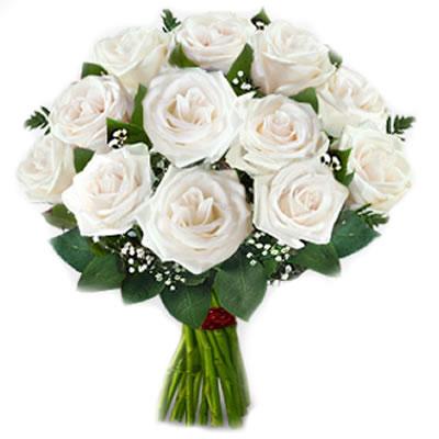 13 Bouquet Rose Bianche