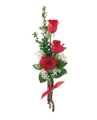 02 Bouquet di Tre Rose Rosse