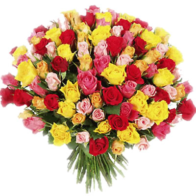 06  Bouquet  XXL di Rose Colorate