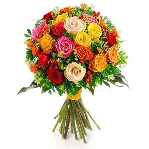 Spedire 15 rose colorate