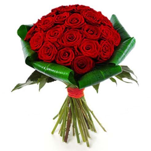 Spedire bouquet di 24 rose rosse