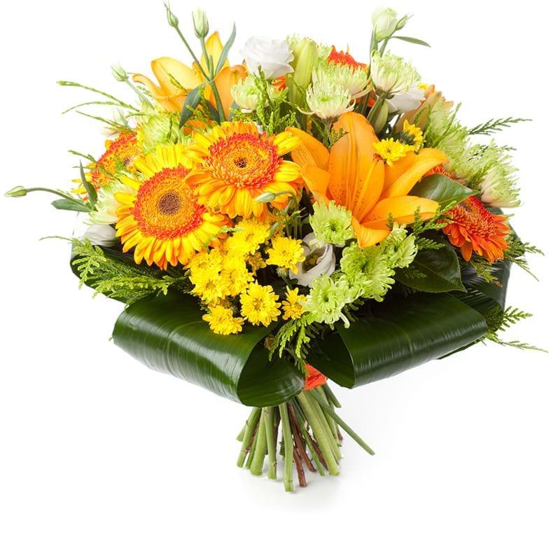 Spedire bouquet arancione