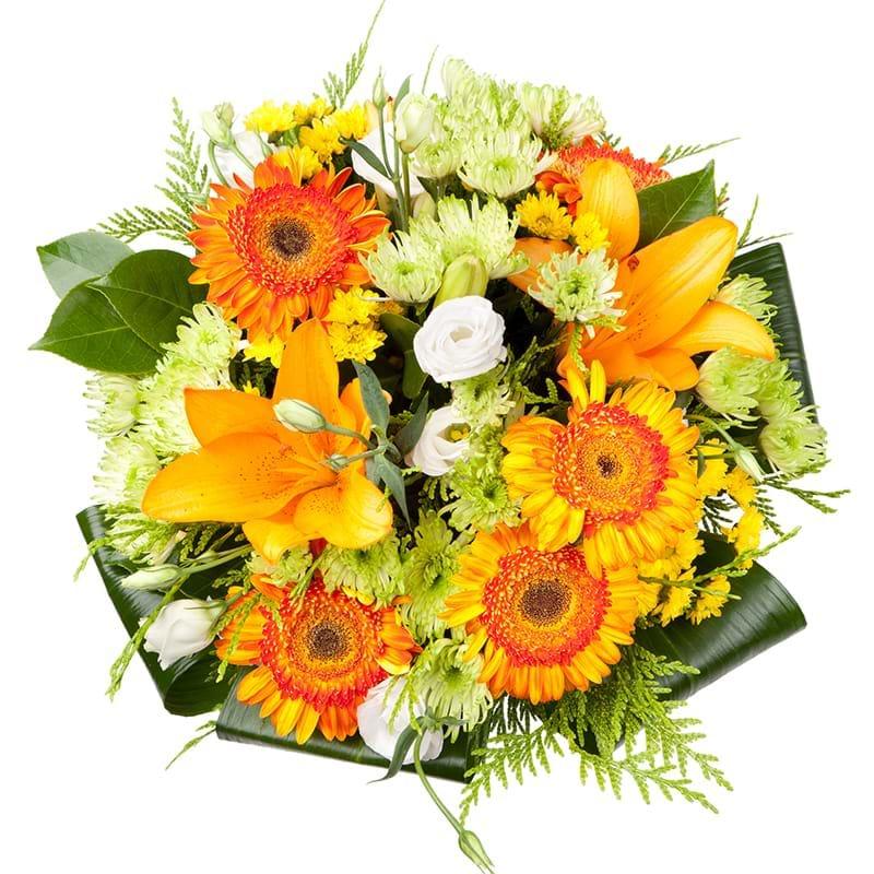 Spedire bouquet arancione vista alto