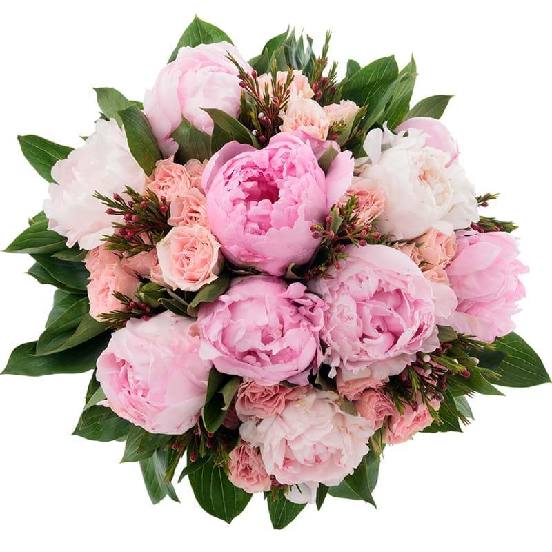 Spedire bouquet di peonie vista alto