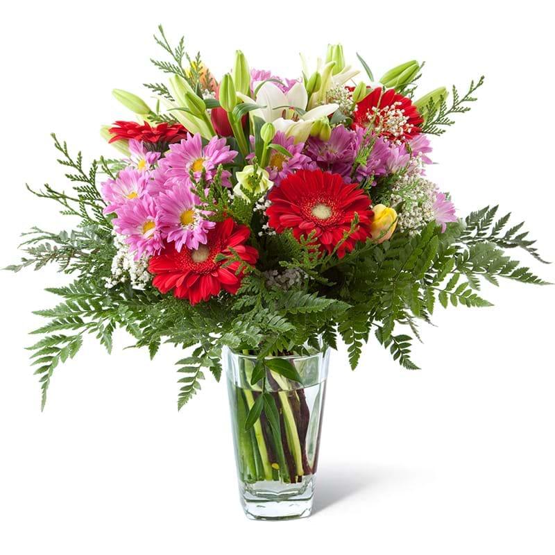 Spedire bouquet di fiori misti in vaso