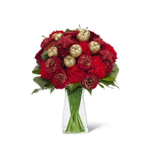 Spedire bouquet natalizio in vaso