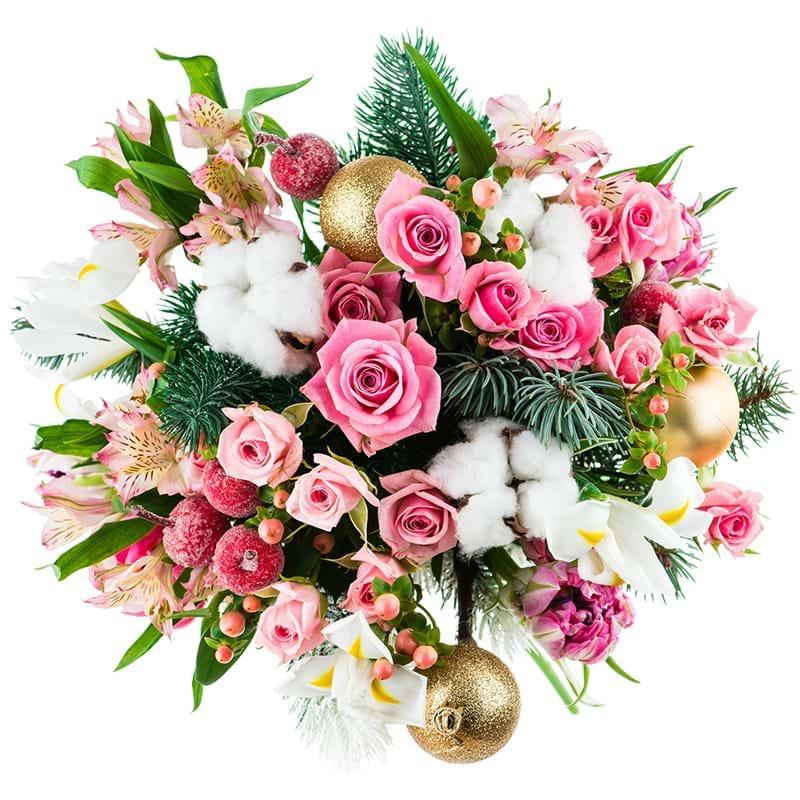 Spedire bouquet natalizio romantico alto