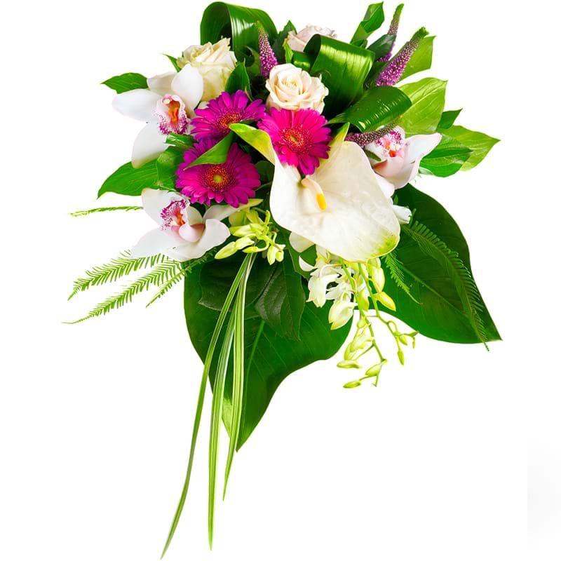 Spedire bouquet particolare vista alto