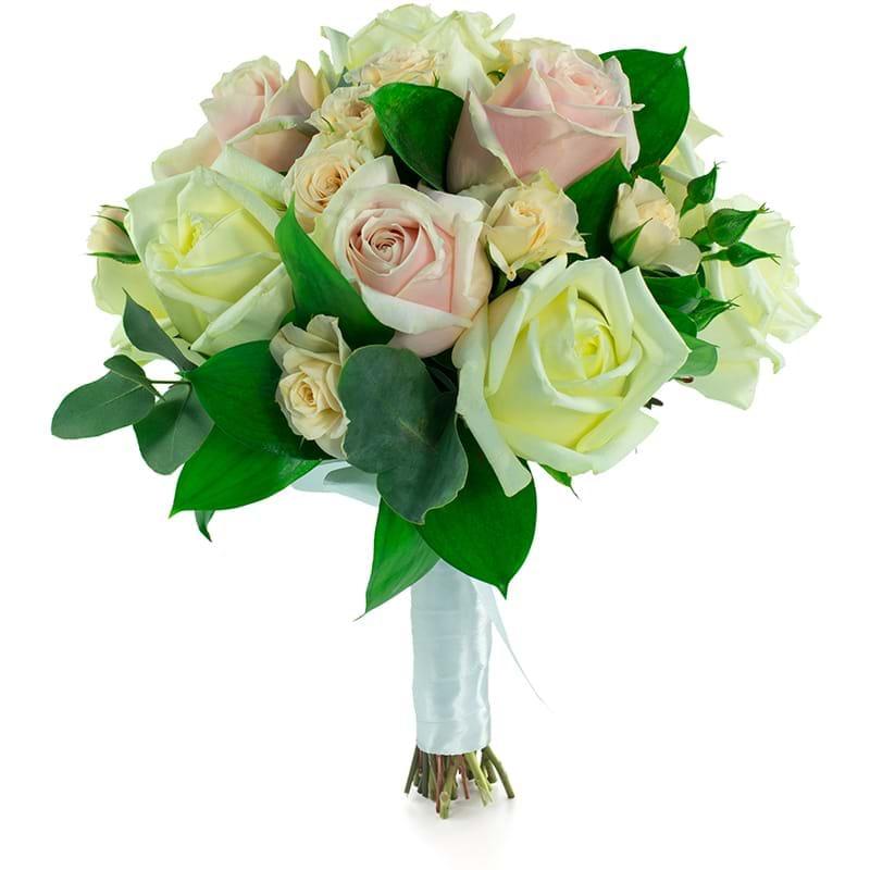 Spedire bouquet rose rosa e bianche