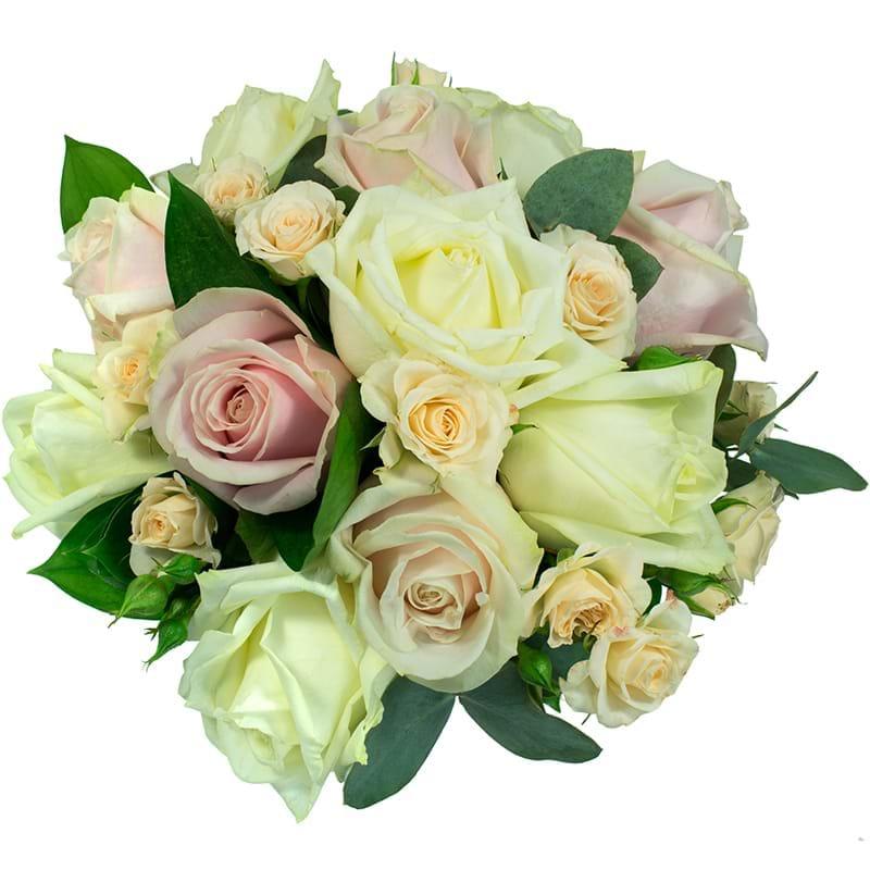 Spedire bouquet rose rosa e bianche vista alto