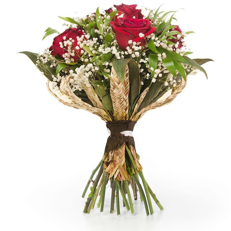 Spedire bouquet sei rose rosse