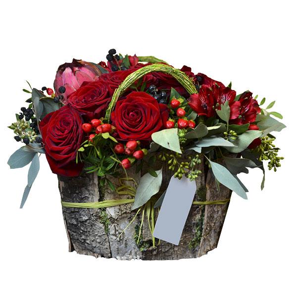 Spedire cestino rose rosse