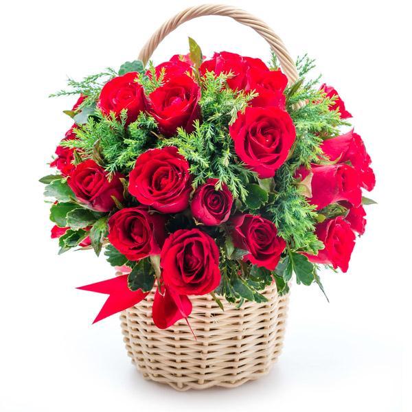 Spedire cesto di rose rosse