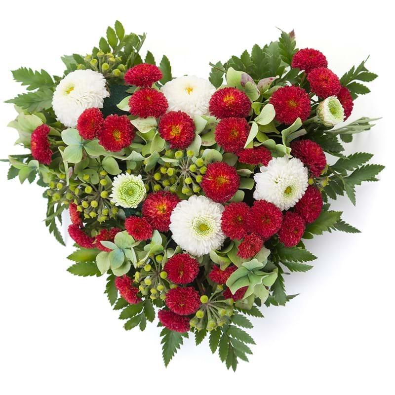 Spedire composzione a cuore per funerale