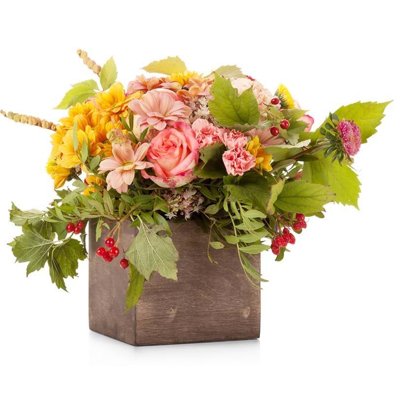 Spedire composizione fiori e frutta