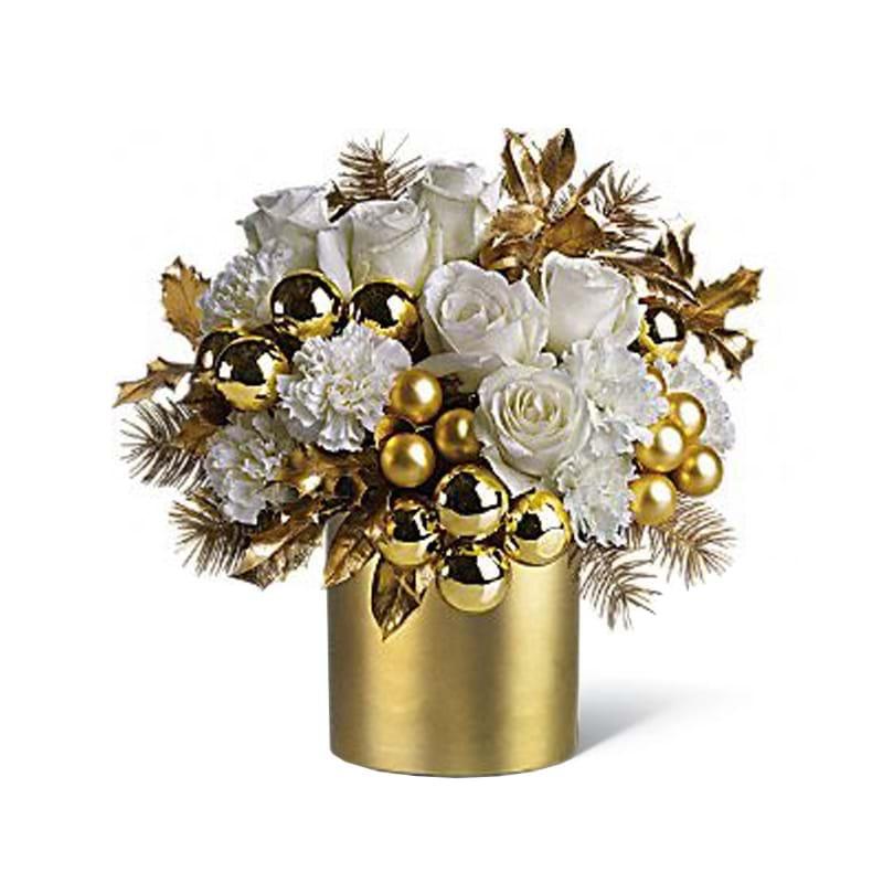 Spedire composizione natalizia dorata