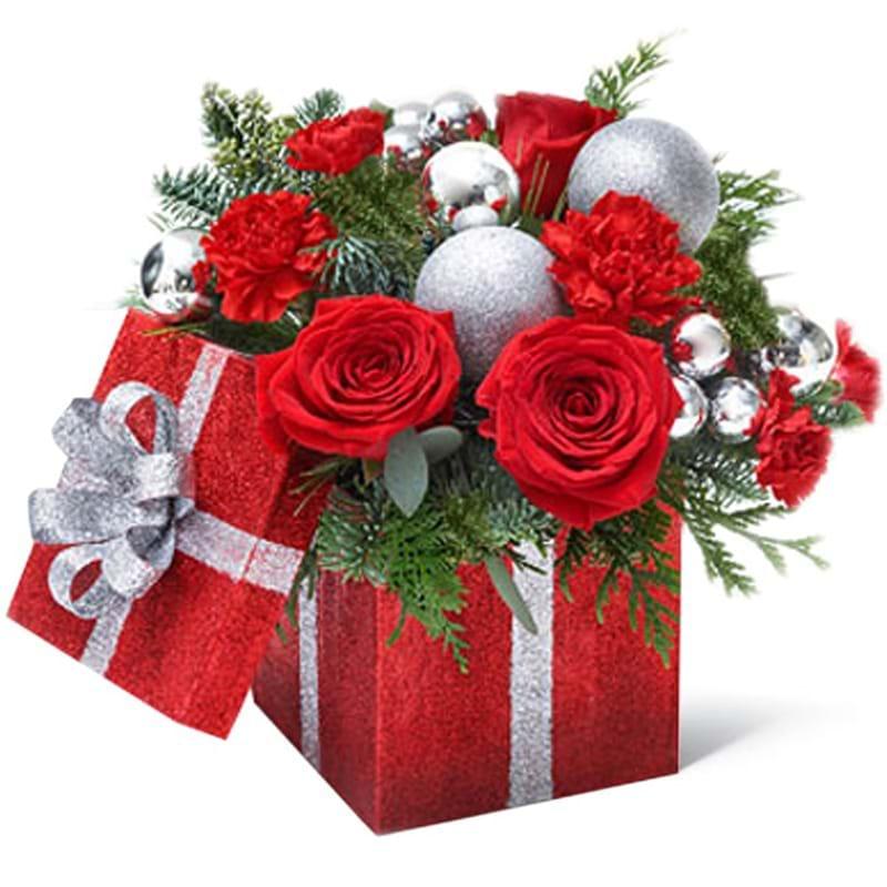 Spedire composizione natalizia in scatolo