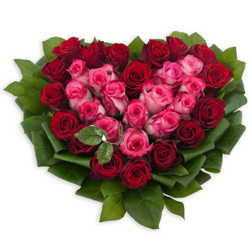 Spedire cuore di rose