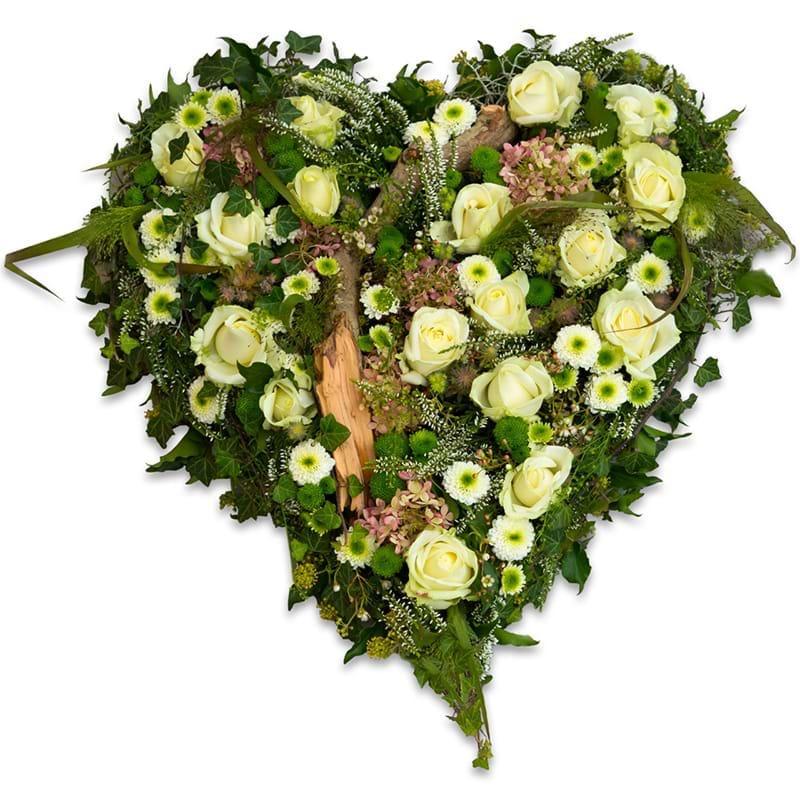 Spedire cuore di rose bianche