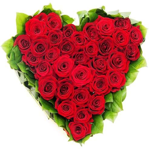 Spedire cuore di rose rosse maxi