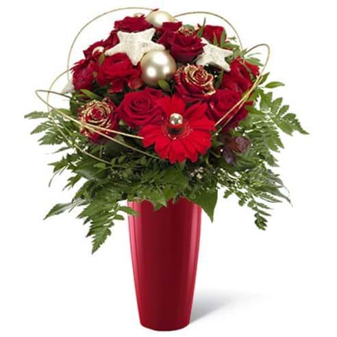 Spedire fiori_di_natale_con_vaso_rosso