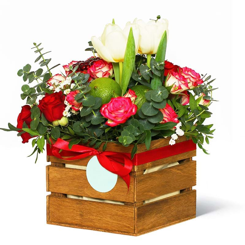 Spedire fiori e frutta in cassetta lato