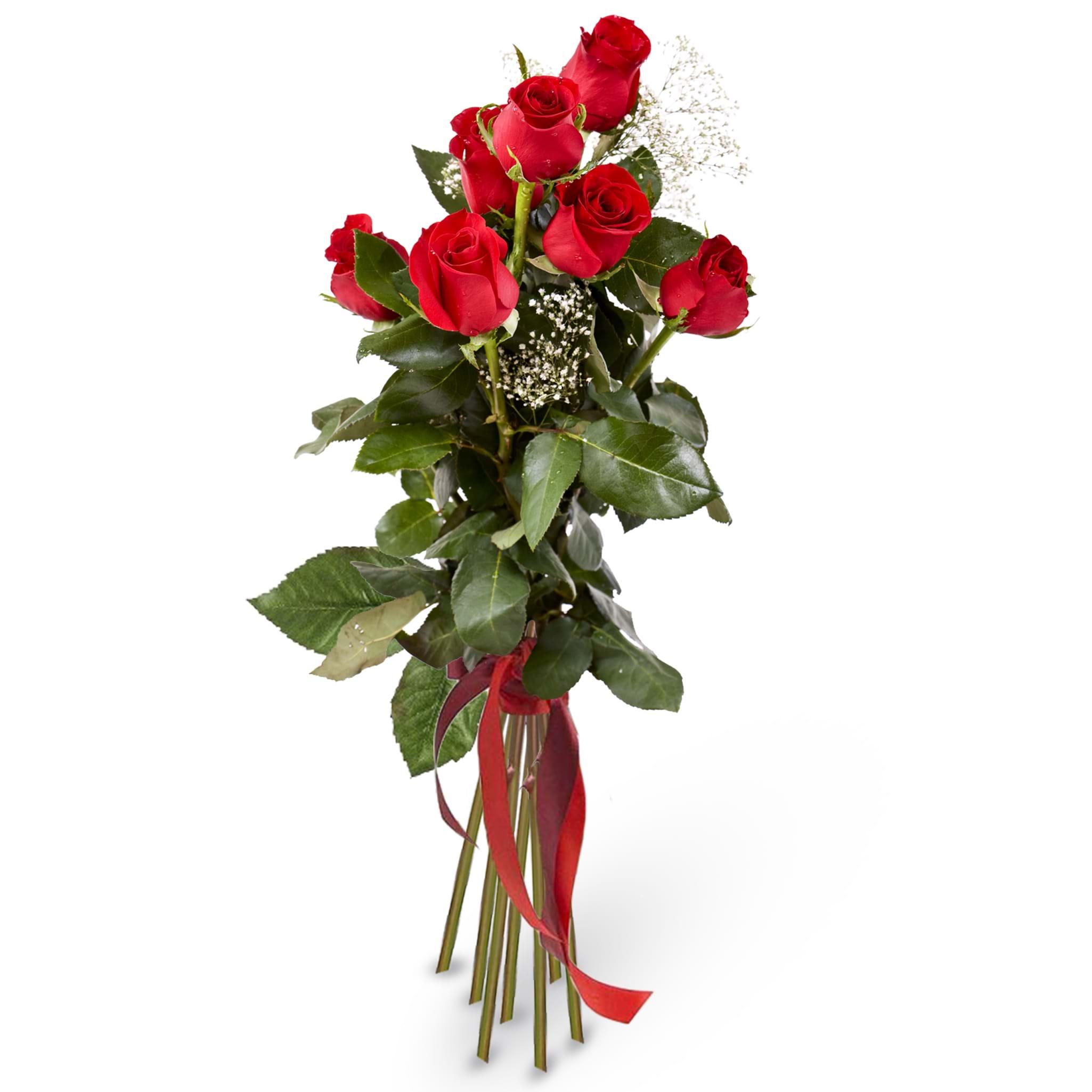 Spedire mazzo 7 rose rosse