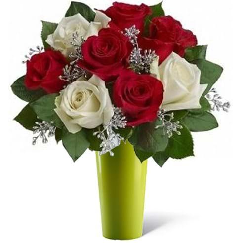 Spedire pensiero d'amore con vaso verde