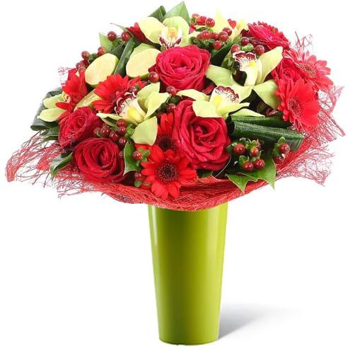 Spedire regalo romantico con vaso verde