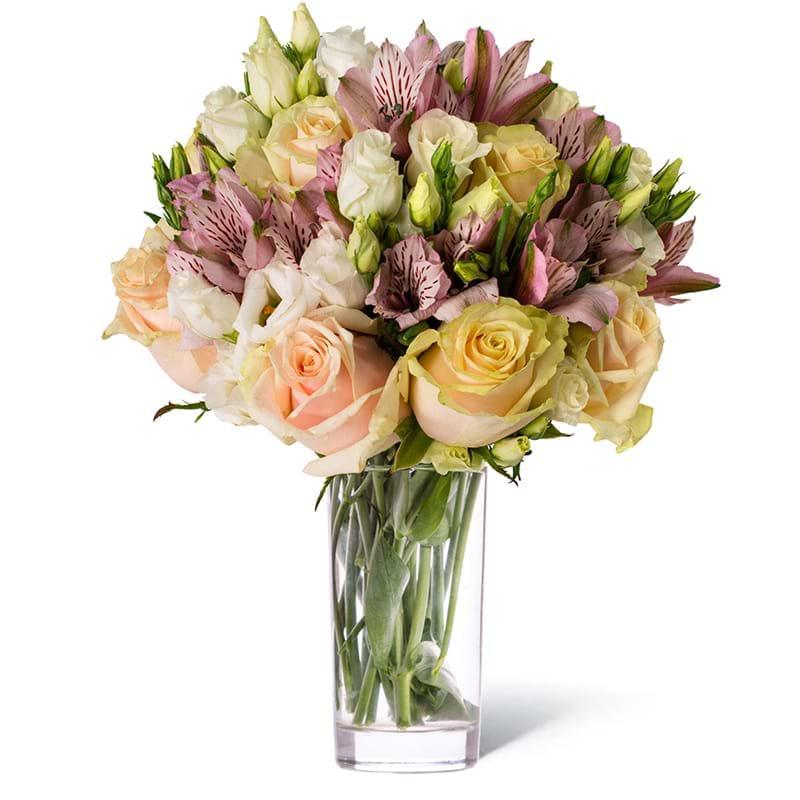 Spedire rose astromerie e lisiantus in vaso