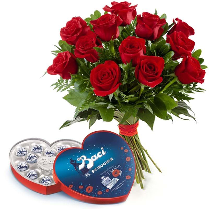 Spedire rose rosse con baci