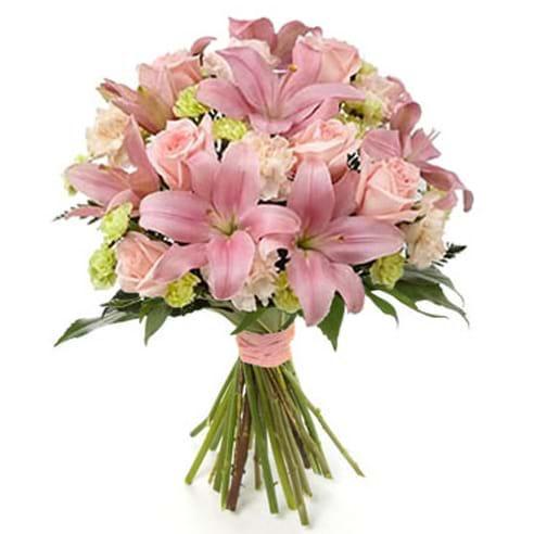 Spedire rose e lilium rosa