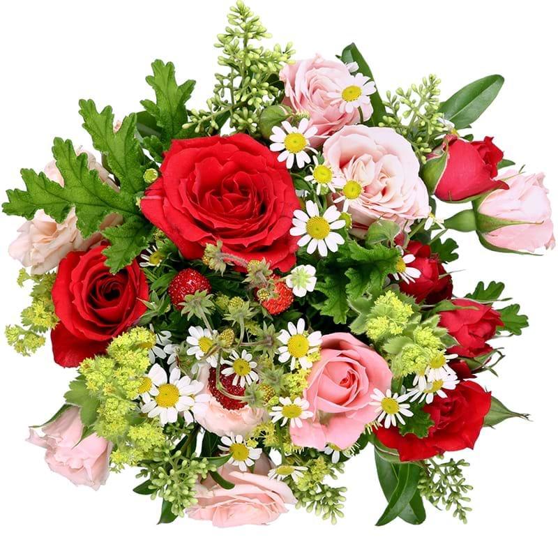Spedire rose e fragole vista alto