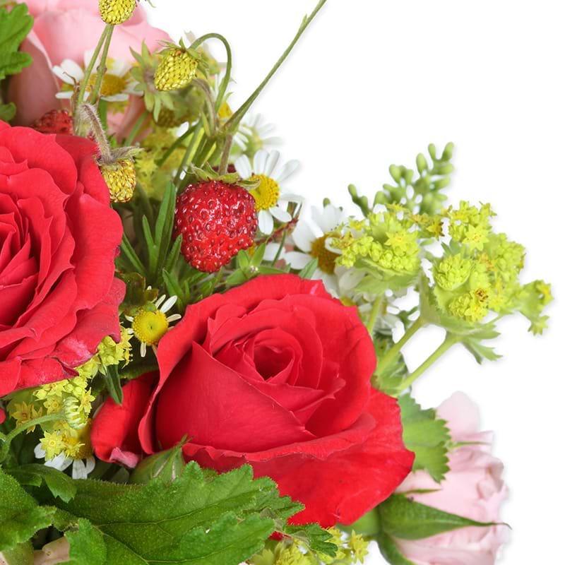 Spedire rose e fragole particolare