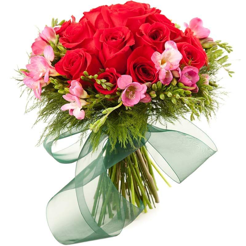 Spedire rose rosse e fresie