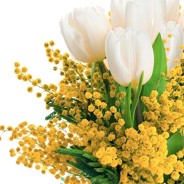 Днем, открытки с 8 марта с мимозой и тюльпанами подснежниками