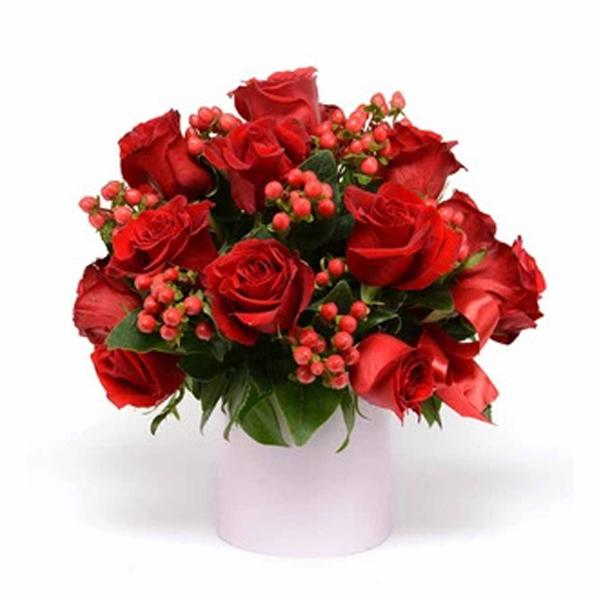 Spedire vaso di rose rosse