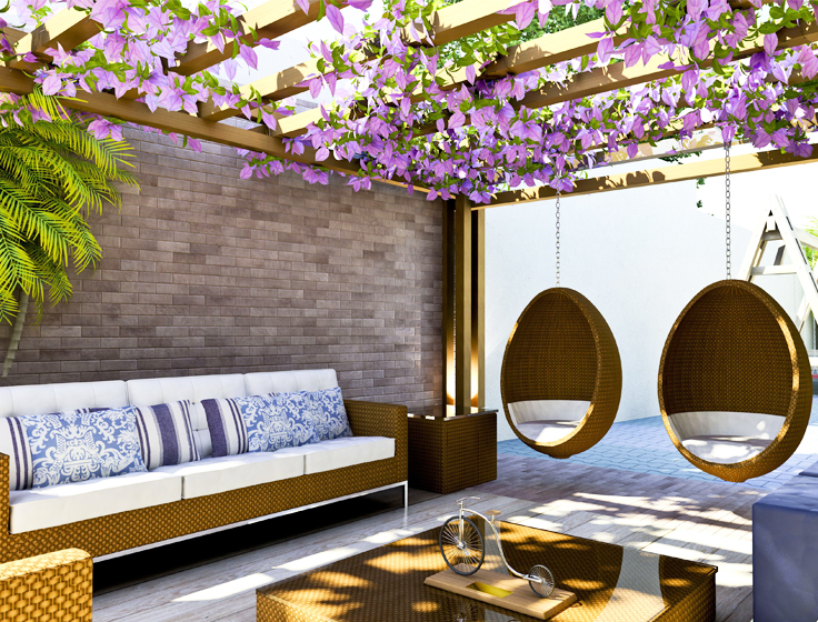 5 idee per decorare il balcone con fiori e piante.